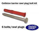 Rawl Plug Bolt for affixing Collision Bar Corner