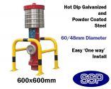 Powder Coated Steel Column Protector Barrier (600x600mm inner measurements)