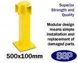 Inter-locking Vehicle and Pedestrian Walkway barrier (Low level single) 90 degree joining post