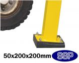 SSP Flex pad for Vehicle and Pedestrian Walkway barrier system