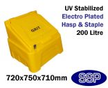 200 Litre Yellow Grit Bin (Empty)