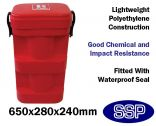 Truck and lorry top-loading fire extinguisher vehicle transport box (9kg/9 litre)