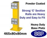 Internal Yellow Steel Protective Guard Rail System - Upright Post