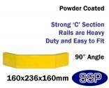 Internal Yellow Steel Protective Guard Rail System External Corner
