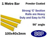 "Internal Yellow Steel Protective Guard Rail System '"" 1 metre barrier"
