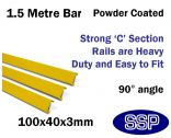 Internal Yellow Steel Protective Guard Rail System - 1.5 metre barrier