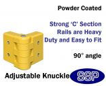 "Internal Yellow Steel Protective Guard Rail System '"" Adjustable Knuckle"