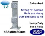 Galvanised Steel Protective Guard Rail System - Upright Post