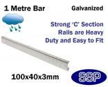 Galvanised Steel Protective Guard Rail System - 1 metre barrier
