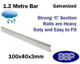 Galvanised Steel Protective Guard Rail System - 1.2 metre barrier