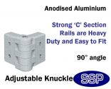 Galvanised Steel Protective Guard Rail System - Adjustable Knuckle
