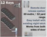 Locca Two Key Fob Entry System (12 Key)