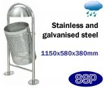 SSP Swing Stainless Steel Litter Bin