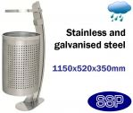 SSP Static Stainless Steel Litter Bin