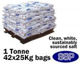 Anti-Slip Clean White Rock Salt - One Tonne (42 x 25Kg)