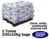 Anti-Slip Clean White Rock Salt - One Tonne (100 x 10Kg)