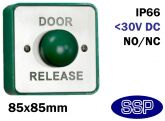 Stainless Steel Momentary Mushroom Door Release Button