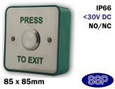 Prestige Stainless Steel Momentary Press to Exit button
