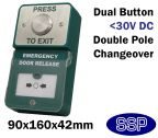 Dual Press to Exit Button and Emergency Door Release break glass Unit