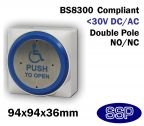 SSP Large Momentary DDA Compliant Disabled Push to Open (Automated Doors) Button
