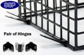 Easy Access Hinges for Mounting CCTV Cages