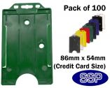 Dark Green ID card | Access Control card holder (100 Pack) Portrait