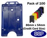 Royal Blue ID card | Proximity Card Control card holder (100 Pack) Portrait