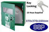 Indoor Compact Defibrillator Defender Locking Cabinet with Ten Keys (Green)