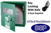 Indoor Compact Defibrillator Defender Locking Cabinet with Combination lock key Safe (Green)