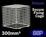 SSP White CCTV Cage | PIR Cage | Halogen Lamp Cage | Detector Cage (Medium) 30cm