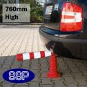 SSP flex-back parking and pedestrian demarcation post (760mm high)