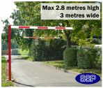SSP Pivoting Car Park and Access Road Height Restrictor Bar System (3metre wide) Surface