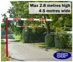 SSP Pivoting Car Park High Vehicle Height Restrictor Bar System (4.5 metre wide) Sub-Surface