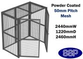 Large Gas Cylinder | Bin | Flammable Liquid | Chemical Security Storage Cage (black)