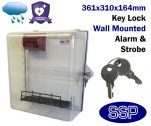 External Key Locking Weather Resistant Defibrillator Defender AED Cabinet