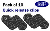Pack of 10 Black S hooks for connecting chains to posts