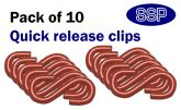 Pack of 10 Red S hooks for connecting chains to posts