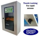 Indoor Compact Defibrillator Defender Thumb Locking Cabinet