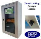 Indoor Compact Defibrillator Defender Thumb Locking Cabinet