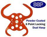 Dual Scissor Action Lockout Tagout Padlock Hasp