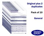 General Permit To Work Self Duplicating Forms Pack of 10