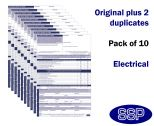 Electrical Permit To Work Self Duplicating Forms Pack of 10