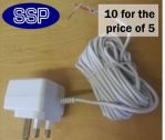12 Volt Plug In Power Supply Adapter (Value 10 Pack)