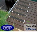 Anti slip Decking and Stairs Screw in Strips (3 metre multi pack) Black