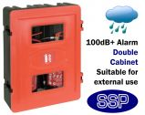 Anti-tamper Alarmed Double Fire extinguisher Cabinet