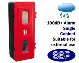 Tamper proof Alarmed Single Fire extinguisher Cabinet