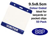 One-Write Blue Visitor Pass Wallets (50 Packs)