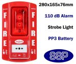 Standalone Break Glass Fire Alarm with Strobe for Marquees | Markets | Construction Sites