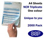 Personalised Duplicating NCR Permits to Work (A4 in Triplicate) 2000 Permits