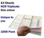 Personalised Duplicating NCR Permits to Work (A3 in Triplicate) 1000 Permits
